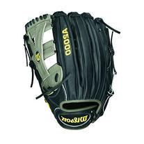 Wilson A2000 Yasiel Puig Outfield Baseball Glove, Black/Grey
