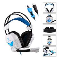 SADES A30S Pro Over Ear USB Surround Sound Stereo PC Gaming
