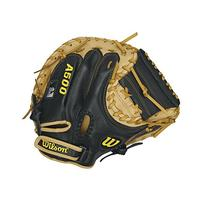 "Wilson A500 Catcher's Mittens, Black/Blonde, 32"", Right Hand"