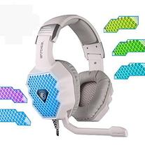 Sades A70 White Breathing Light Changing Light Color Headset