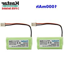 Kastar 2-PACK AAAX2 2.4V 1000mAh 5264 Ni-MH Rechargeable