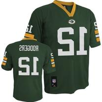NEW Green Bay Packers Aaron Rodgers Green Boys Youth NFL