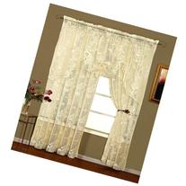 "Abbey Rose Lace 84"" Long Panel Ivory"