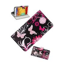 ABC Butterfly Wallet Stand Flip Leather Case Cover for