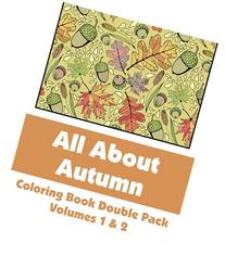 All About Autumn Coloring Book Double Pack