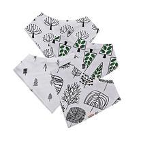 Laribbons 4 Pack Design Absorbent Organic Cotton Bandana