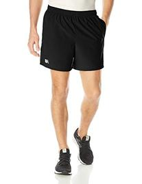 New Balance Men's Accelerate 7-Inch Shorts, Black, X-Large