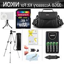 32GB Accessory Kit For Nikon Coolpix B500, L330, L340, L810