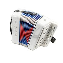 SKY Accordion White Color 7 Button 2 Bass Kid Music