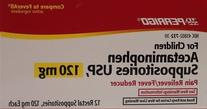 Acetaminophen Rectal Suppositories Generic for Tylenol