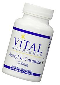 Vital Nutrients - Acetyl L-Carnitine 500 mg - Supports