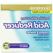 GoodSense Acid Reducer Ranitidine Tablets , 75 mg, 30-count