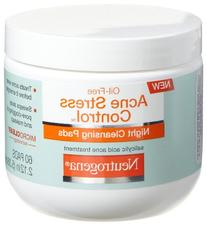 Neutrogena Acne Stress Control Night Cleansing Pads, 60