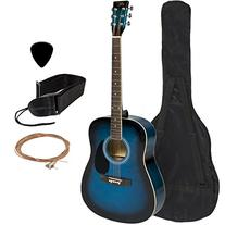 "Full 41"" Acoustic Guitar with Guitar Case & More Accessories"