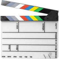 Pearstone Acrylic Dry Erase Clapboard with Color Sticks