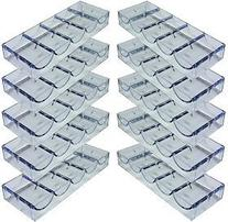 Set of 10 Acrylic Stackable 100-Chip Poker Chip Trays /