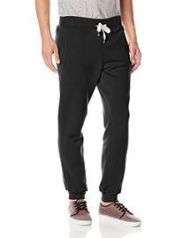 Southpole Men's Active Basic Jogger Fleece Pants, Black,