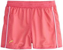 PUMA Big Girls' Active Double Mesh Short, Pink Glo, 12-14
