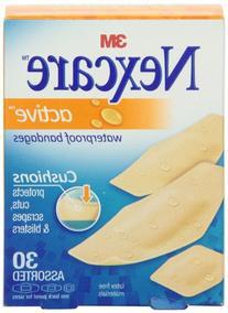 Nexcare Active Extra Cushion Bandage, Assorted Sizes, 30 ct