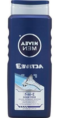 NIVEA Men Active3 3-in-1 Body Wash 16.9 Fluid Ounce