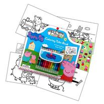 Peppa Pig Art Activity Set With Coloring Book Pages,