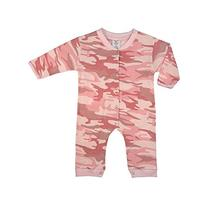 Rothco Infant Long Sleeve One-Piece, Baby Pink Camo, 42069