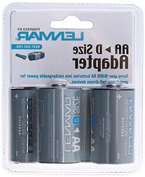 """""""D"""" Size Battery Shell Adapter for AA Batteries By Lenmar"""