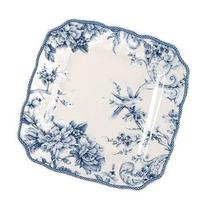 222 Fifth Adelaide Blue & White Dinner Plates, Set of 4