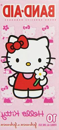 Band-Aid Brand Adhesive Bandages, Hello Kitty, 10 Count