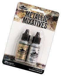 Ranger Adirondack Alcohol Ink Metallic Mixatives 1/2-Ounce 2