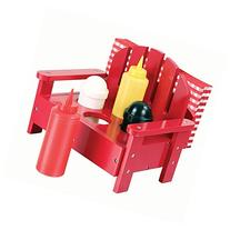 5-piece Adirondack Chair Condiment Set for Ketchup, Mustard