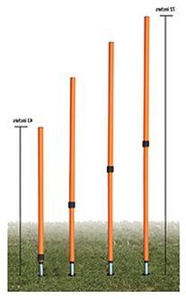 4-Pc Adjustable Agility Pole Set in Orange