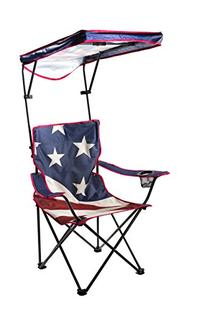 Quik Shade Adjustable Canopy Folding Shade Chair, American