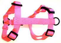 Hamilton Adjustable Comfort Nylon Dog Harness, Hot Pink, 3/4