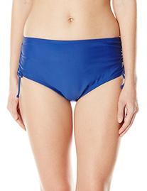 Ocean Avenue Women's Adjustable Hi-Waist Bikini Bottom, Navy