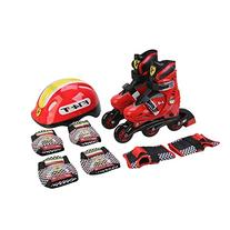Ferrari Kids Adjustable Inline Skate Combo Set Red Size S