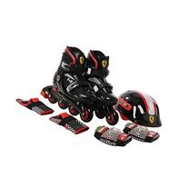 Ferrari Kids Adjustable Inline Skate Combo Set Black Size S
