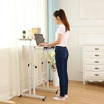 SDADI 2 Inches Carpet Wheel Mobile Stand Up Desk Height