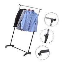 Costway Adjustable Rolling Garment Rack Portable Clothes