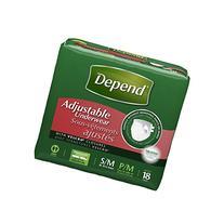 Depend Adjustable Underwear Case of 72/Small / Medium