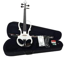 ADM 4/4 Full Size Electric/Silent Violin Outfit, White Gloss