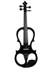 ADM 4/4 Solid Wood Black Color Electric/Silent Violin Outfit