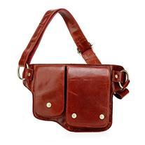 Vicenzo Leather Adonis Leather Waistpack Red - Vicenzo