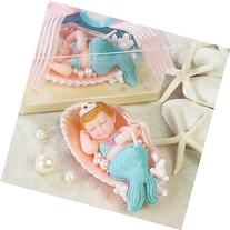 Rubility® Adorable Baby Mermaid Birthday Candles Cake