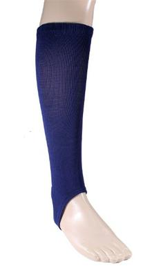 "Twin City Solid Stirrup Socks 4"" Navy M"