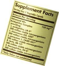 Solgar Advanced 40 Plus Acidophilus Vegetable Capsules, 120