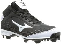 Mizuno Men's Advanced Blaze Elite 5 Mid Baseball Cleat,Black