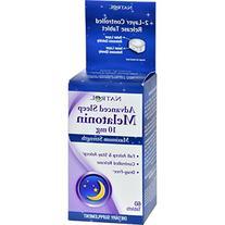 Advanced Sleep Melatonin - 10 mg - 60 Tablets - Drug - Free