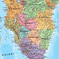 Africa Political Laminated Map