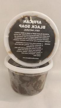 African Soft Black Soap Tub 1lb